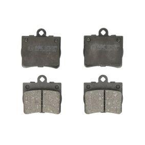 Bremsbelagsatz, Scheibenbremse Breite: 63,7mm, Höhe: 63,4mm, Dicke/Stärke: 15,5mm mit OEM-Nummer A 002 420 51 20