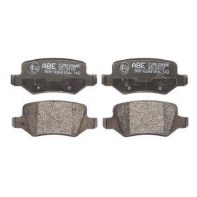 Bremsbelagsatz, Scheibenbremse Breite: 95,6mm, Höhe: 41,5mm, Dicke/Stärke: 14,3mm mit OEM-Nummer A169 420 1120
