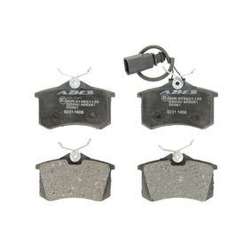 Bremsbelagsatz, Scheibenbremse Breite: 87mm, Höhe: 52,9mm, Dicke/Stärke: 17mm mit OEM-Nummer 1343513