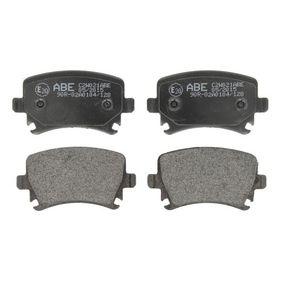 ABE Bremsbelagsatz, Scheibenbremse C2W021ABE für AUDI A4 Cabriolet (8H7, B6, 8HE, B7) 3.2 FSI ab Baujahr 01.2006, 255 PS