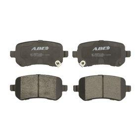 Bremsbelagsatz, Scheibenbremse Breite: 116,6mm, Höhe: 52,7mm, Dicke/Stärke: 16,8mm mit OEM-Nummer K68029887AA