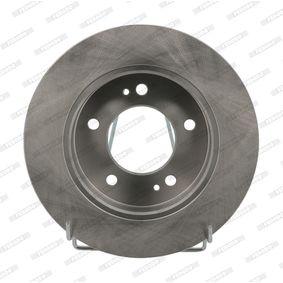 Bremsscheibe Bremsscheibendicke: 10mm, Lochanzahl: 5, Ø: 258mm mit OEM-Nummer 58411-1P300