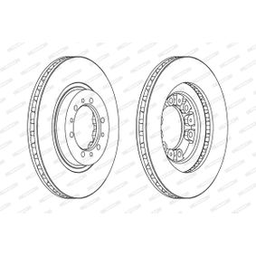 Brake Disc Brake Disc Thickness: 24mm, Num. of holes: 6, Ø: 276mm with OEM Number MR129648