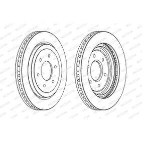 Bremsscheibe Bremsscheibendicke: 28mm, Lochanzahl: 6, Ø: 320mm mit OEM-Nummer 40206EB320