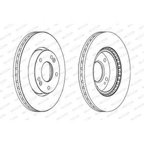 Brake Disc Brake Disc Thickness: 26mm, Num. of holes: 5, Ø: 280mm with OEM Number S517122K100