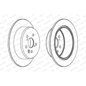 Disque de frein Épaisseur du disque de frein: 10mm, Nbre de trous: 5, Ø: 269mm avec OEM numéro 42431 20 200