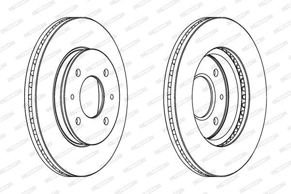 FERODO PREMIER DDF391 Bremsscheibe Bremsscheibendicke: 24mm, Lochanzahl: 4, Ø: 266mm