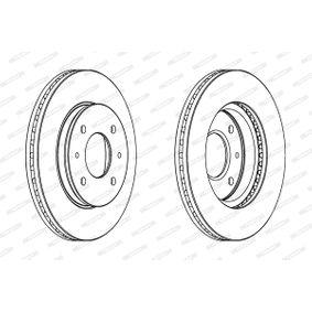 Bremsscheibe Bremsscheibendicke: 24mm, Lochanzahl: 4, Ø: 266mm mit OEM-Nummer 3256 152893