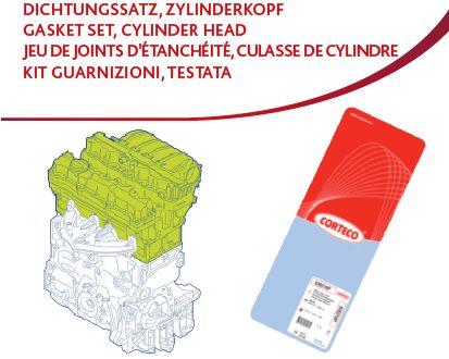 CORTECO  417812P Dichtungssatz, Zylinderkopf