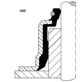 Dichtring, Ventilschaft Innendurchmesser 2: 7mm mit OEM-Nummer 46023000 CORTECO