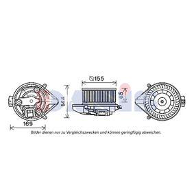 AKS DASIS Innenraumgebläse 730004N für AUDI A4 Avant (8E5, B6) 3.0 quattro ab Baujahr 09.2001, 220 PS