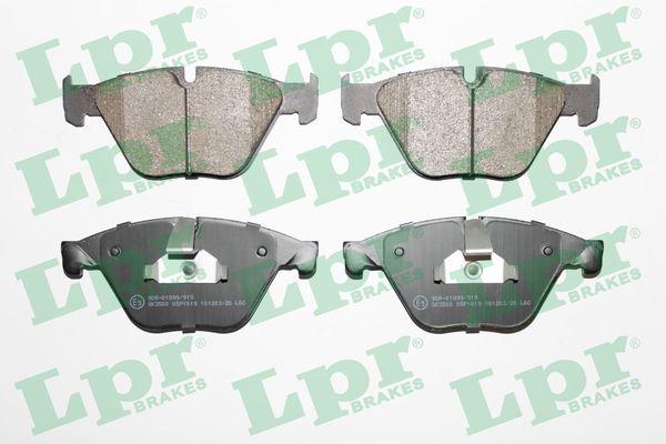 LPR  05P1619 Bremsbelagsatz, Scheibenbremse Breite: 155mm, Höhe 1: 68,4mm, Höhe 2: 68,2mm, Dicke/Stärke 1: 19mm, Dicke/Stärke 2: 20mm