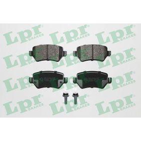 LPR  05P1650 Bremsbelagsatz, Scheibenbremse Breite: 95,5mm, Höhe: 42,7mm, Dicke/Stärke: 15,2mm