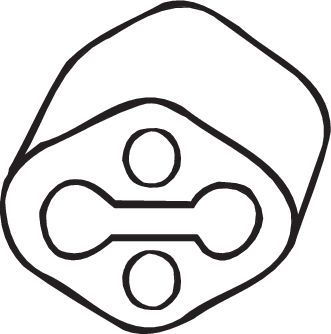 BOSAL Anschlagpuffer, Schalldämpfer  255-891