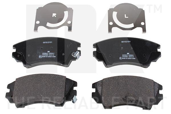 NK  223641 Brake Pad Set, disc brake Width 1: 142,05mm, Height 1: 66,7mm, Thickness 1: 19mm