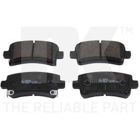 Brake Pad Set, disc brake Width 1: 106,3mm, Width 2 [mm]: 106,3mm, Height 1: 47,2mm, Height 2: 47,2mm, Thickness 1: 16,6mm, Thickness 2: 16,6mm with OEM Number 1605319