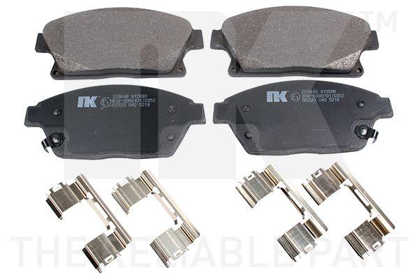 NK  223646 Bremsbelagsatz, Scheibenbremse Breite 1: 148,00mm, Höhe 1: 61,30mm, Dicke/Stärke 1: 18,00mm