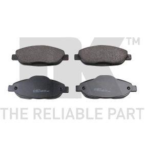 2016 Peugeot 3008 Mk1 1.6 HDi Brake Pad Set, disc brake 223747
