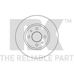Bremsscheibe Bremsscheibendicke: 14mm, Felge: 4-loch, Ø: 257mm mit OEM-Nummer 82434169