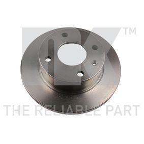 Bremsscheibe Bremsscheibendicke: 12,70mm, Felge: 4,00-loch, Ø: 239mm mit OEM-Nummer 6 100 043