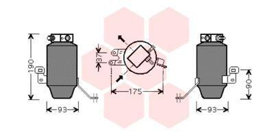VAN WEZEL Kondensator Klimatrockner Trockner Klimaanlage 0600D221
