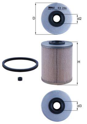 KNECHT Kraftstofffilter für Fahrzeuge ohne Start-Stopp-Funktion  Filtereinsatz  KX 206D
