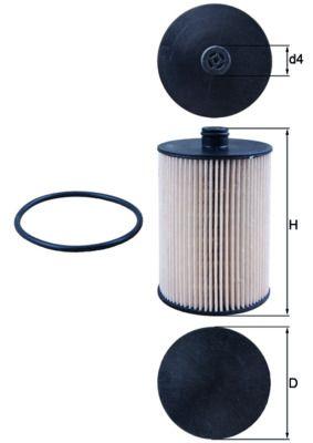 KNECHT Kraftstofffilter Filtereinsatz  KX 226D