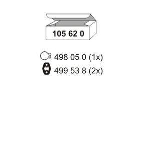 ERNST  105620 Montagesatz, Schalldämpfer
