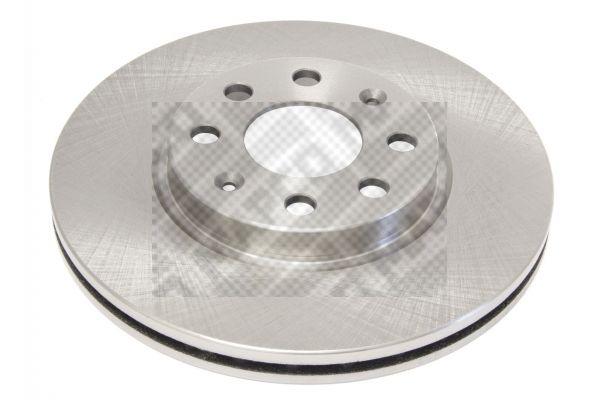 MAPCO  25711 Bremsscheibe Bremsscheibendicke: 22mm, Lochanzahl: 4, Ø: 257mm