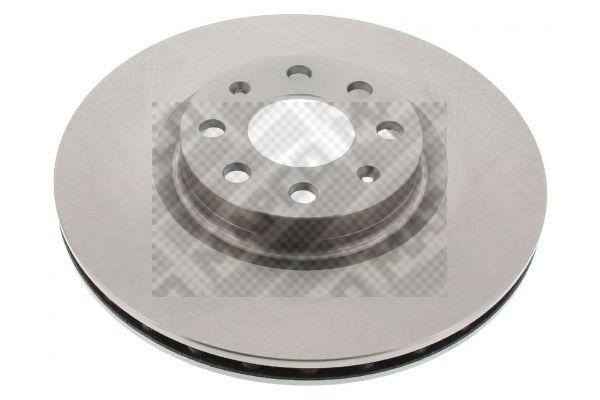 MAPCO  25714 Bremsscheibe Bremsscheibendicke: 22mm, Lochanzahl: 4, Ø: 284mm