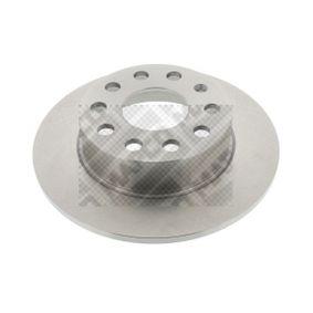 MAPCO  25831 Спирачен диск дебелина на спирачния диск: 10мм, брой на дупките: 5, Ø: 255мм