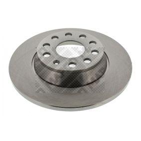 Спирачен диск дебелина на спирачния диск: 12мм, брой на дупките: 5, Ø: 286мм с ОЕМ-номер 1K0615601AD