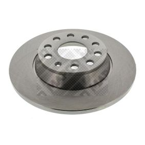 Brake Disc Brake Disc Thickness: 12mm, Num. of holes: 5, Ø: 286mm with OEM Number 5Q0615601G