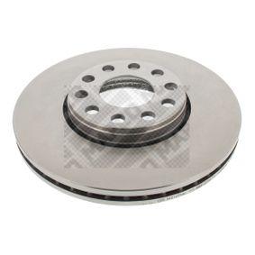 Stoßstangenhalterung VW PASSAT Variant (3B6) 1.9 TDI 130 PS ab 11.2000 MAPCO Bremsscheibe (25870) für