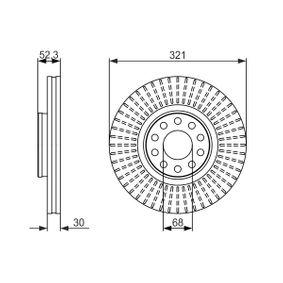Türen und Einzelteile VW PASSAT Variant (3B6) 1.9 TDI 130 PS ab 11.2000 BOSCH Bremsscheibe (0 986 479 690) für