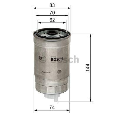 Inline fuel filter BOSCH 1457434516 expert knowledge