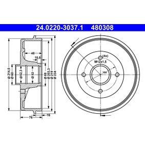 Bremstrommel Br.Tr.Durchmesser außen: 234,0mm mit OEM-Nummer 7700 818 346