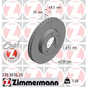 Brake Disc Brake Disc Thickness: 25mm, Rim: 5-Hole, Ø: 278mm with OEM Number C24Y-33-25XC 9A