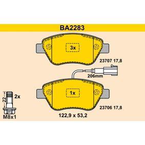 Bremsbelagsatz, Scheibenbremse Breite: 122,9mm, Höhe: 53,2mm, Dicke/Stärke: 17,8mm mit OEM-Nummer 77364393