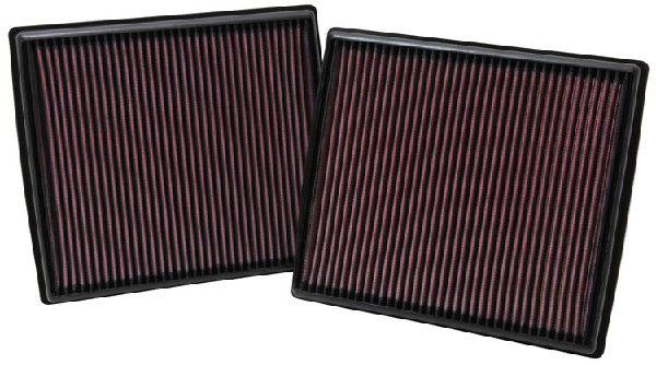 K&N Filters  33-2973 Luftfilter Länge: 257mm, Breite: 184mm, Höhe: 29mm, Länge: 257mm