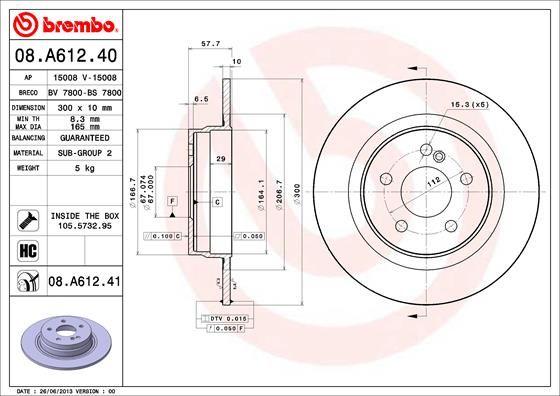 08.A612.41 BREMBO del fabricante hasta - 39% de descuento!