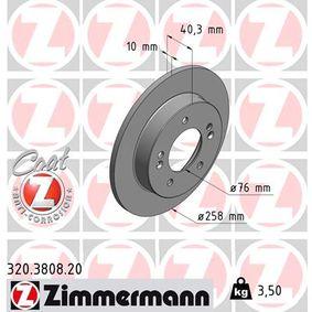 Bremsscheibe Bremsscheibendicke: 10mm, Felge: 5-loch, Ø: 258mm mit OEM-Nummer 58411-1P300