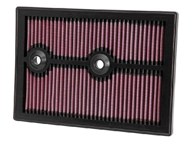 K&N Filters  33-3004 Luftfilter Länge: 265mm, Breite: 187mm, Höhe: 25mm, Länge: 265mm
