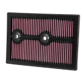 K&N Filters  33-3004 Luftfilter Länge: 265mm, Breite: 187mm, Höhe: 25mm