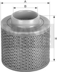 MANN-FILTER  C 1368 Luftfilter Höhe: 150mm