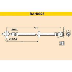 Bremsschlauch Länge: 435mm, Innengewinde: M10x1mm mit OEM-Nummer 1J0 611 701L