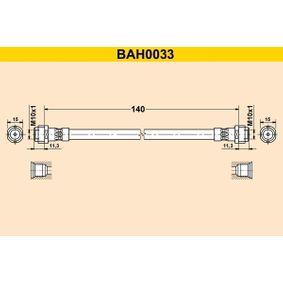 Bremsschlauch Länge: 140mm, Innengewinde 2: M10x1mm mit OEM-Nummer 6X0 611 775