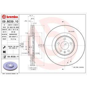 Brake Disc Brake Disc Thickness: 29,5mm, Num. of holes: 5, Ø: 345mm with OEM Number 8K0 615 301 K