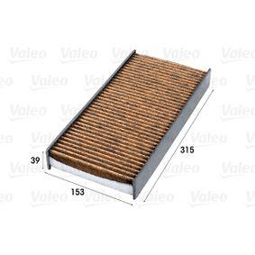 Filter, Innenraumluft Länge: 315mm, Breite: 153mm, Höhe: 39mm mit OEM-Nummer 6447 TC