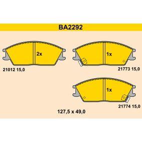 Bremsbelagsatz, Scheibenbremse Breite: 127,5mm, Höhe: 49,0mm, Dicke/Stärke: 15,0mm mit OEM-Nummer 58101 1CA00